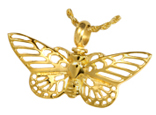 Stainless Steel Gilded Butterfly