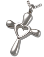 Stainless Steel Heart Cross