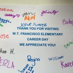 colorful letter career day