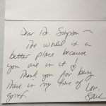 hand written letter for doctor simpson