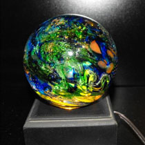 colorful memorial paperweight