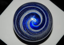 blue white stripe memorial paperweight