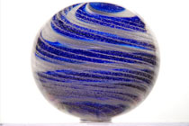violet white stripe memorial paper weight