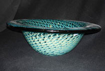 blue green memorial bowl