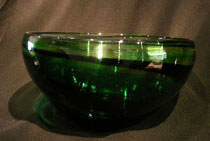 crystal green memorial bowl