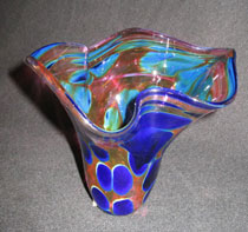 floral violet green memorial vase
