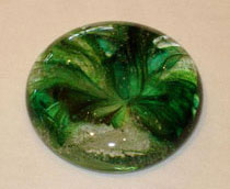 Crystal dark green memorial touchstone