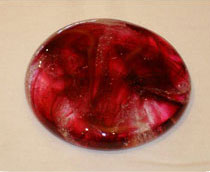 deep red memorial touchstone