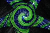 blue and green memorial ornament