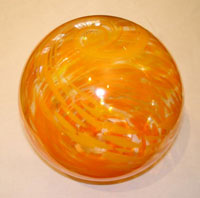 Opal orange glass float